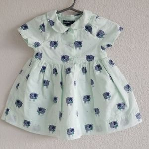 GAP Seafoam Green & Navy Lamb Dress and Bloomers